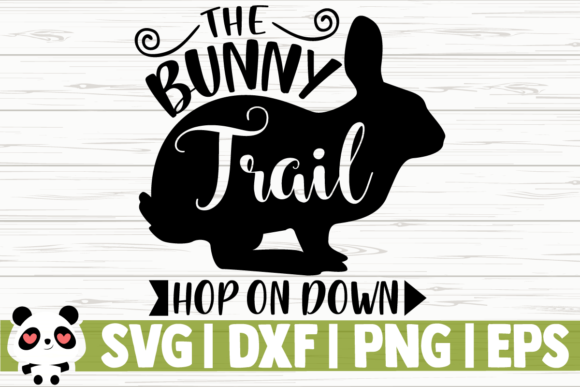 Download Free The Bunny Trail Graphic By Creativedesignsllc Creative Fabrica for Cricut Explore, Silhouette and other cutting machines.
