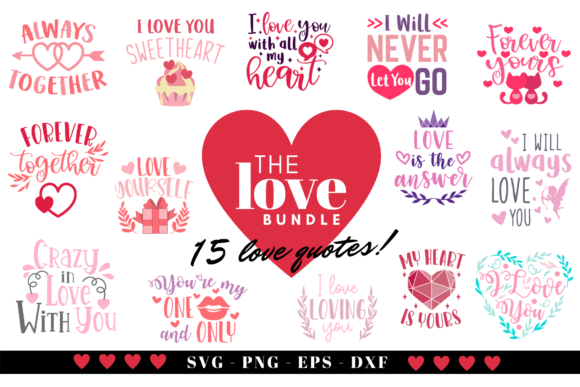 The Love Bundle Graphic Crafts By Graphipedia
