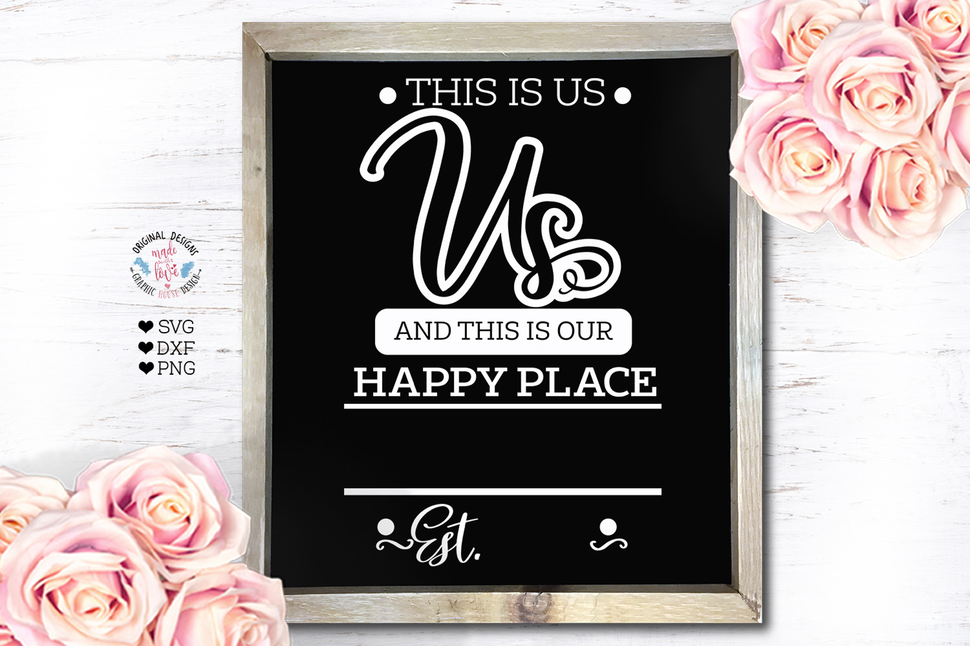 Download Free This Is Us And This Is Our Happy Place Graphic By for Cricut Explore, Silhouette and other cutting machines.