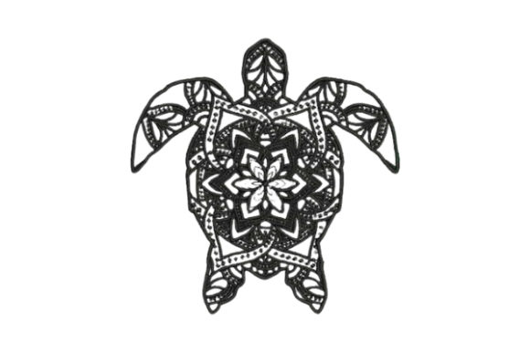 Turtle Mandala Mandala Embroidery Design By Embroidery Designs