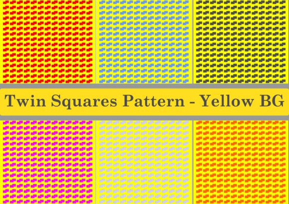 Download Free Twinsquares Pattern Yellow Bg Graphic By Designclusters for Cricut Explore, Silhouette and other cutting machines.