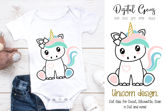 Unicorn Design Graphic Crafts By Digital Gems - Image 1