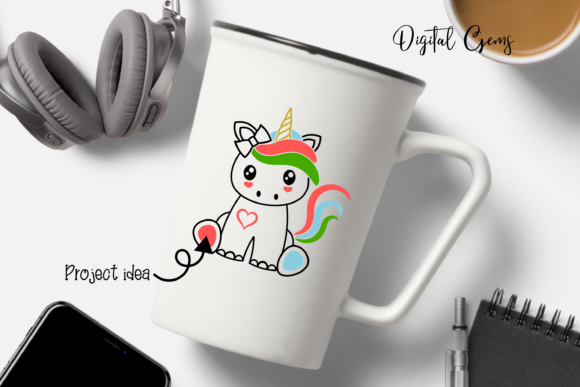 Unicorn Design Graphic Crafts By Digital Gems - Image 4