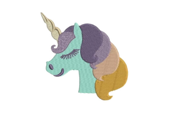 Unicorn Head Fairy Tales Embroidery Design By Embroidery Designs - Image 1