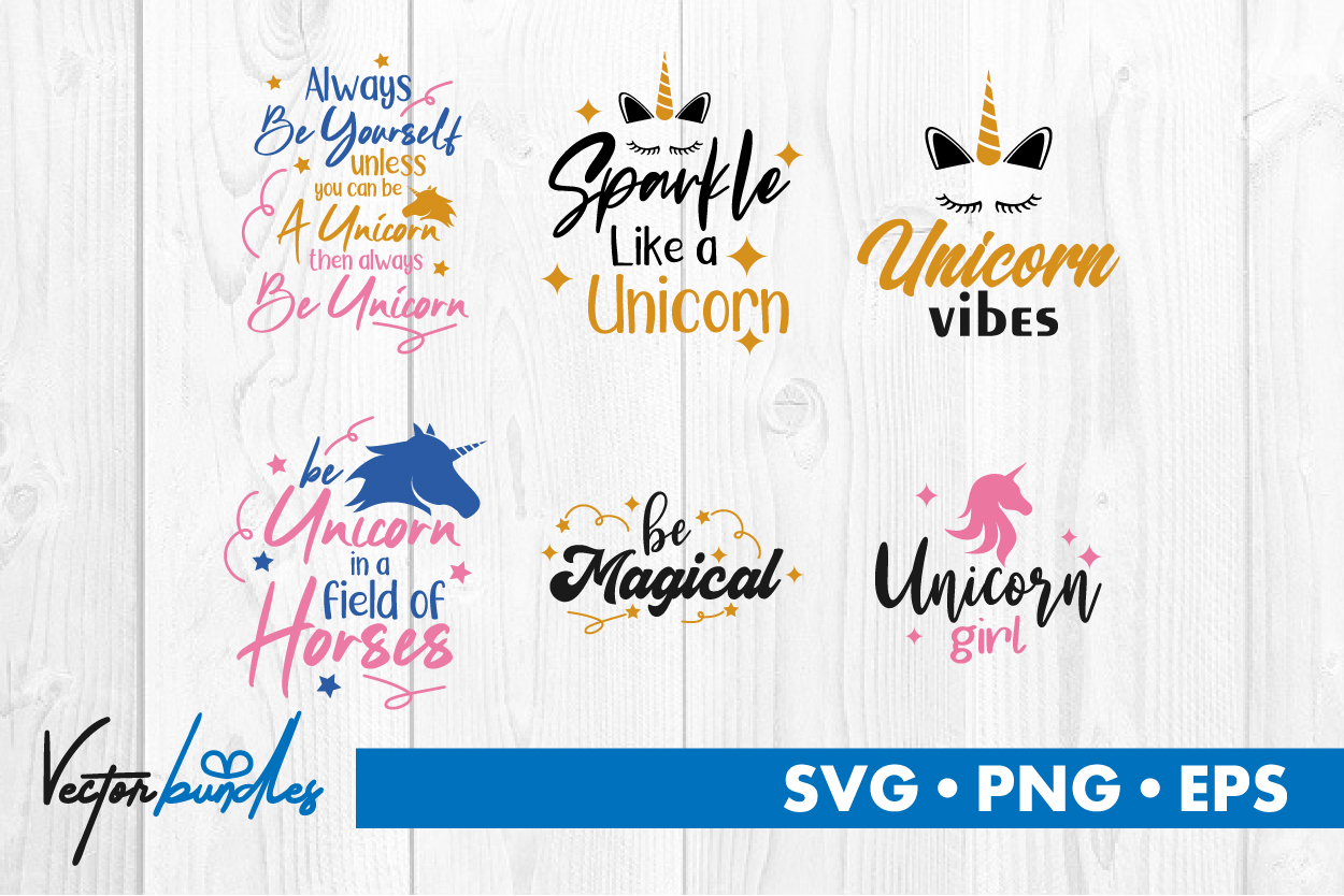 Download Free Unicorn Quotes Graphic By Vectorbundles Creative Fabrica for Cricut Explore, Silhouette and other cutting machines.
