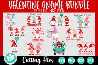 Download Free Valentine Gnome Bundle Graphic By Truenorthimagesca Creative for Cricut Explore, Silhouette and other cutting machines.