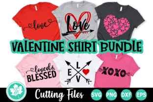 Download Free Valentine Shirt Mini Bundle Graphic By Truenorthimagesca for Cricut Explore, Silhouette and other cutting machines.