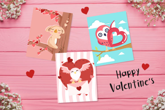 Valentine S Day Cute Cards Graphic By Jannta Creative Fabrica