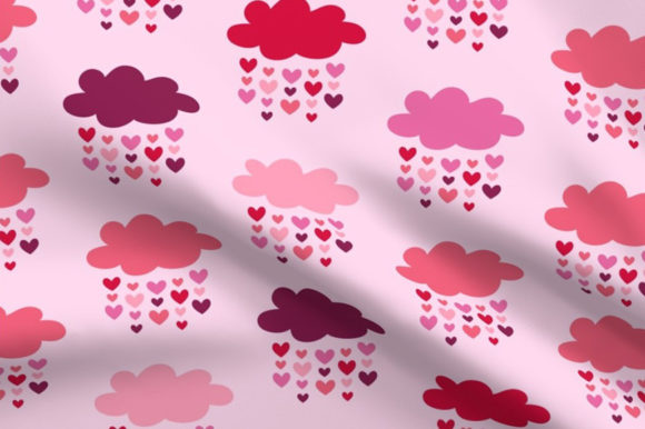Download Free Valentine S Hearts Rain Pattern Graphic By Dana Du Design for Cricut Explore, Silhouette and other cutting machines.