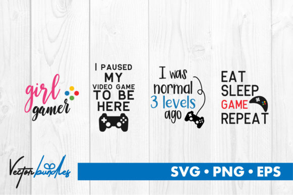 Download Free Video Game Quotes Graphic By Vectorbundles Creative Fabrica for Cricut Explore, Silhouette and other cutting machines.