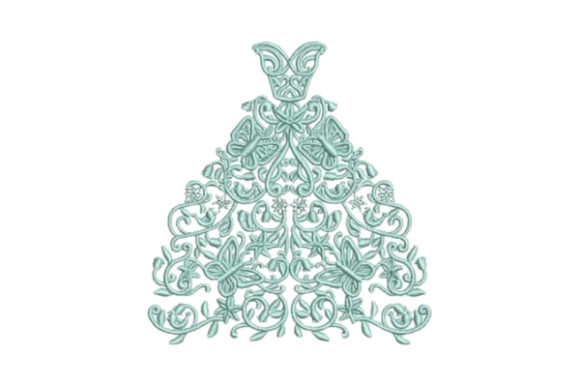 Wedding Dress Wife Embroidery Design By Embroidery Designs