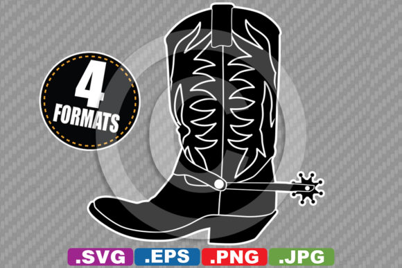 Download Free Western Cowboy Cowgirl Boot Silhouette Graphic By SVG Cut Files