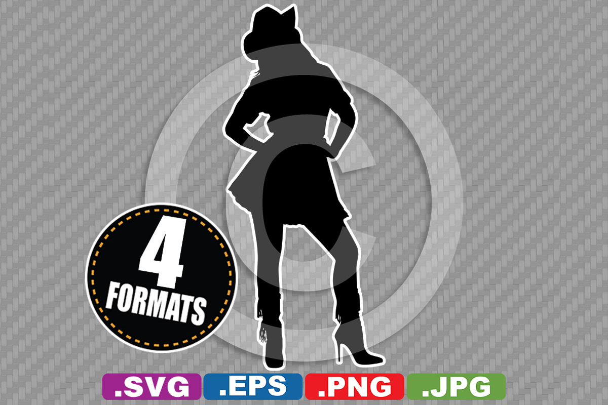 Download Free Western Cowgirl Silhouette Graphic By Idrawsilhouettes for Cricut Explore, Silhouette and other cutting machines.