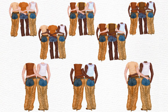 Western Girls Graphic Illustrations By LeCoqDesign - Image 3