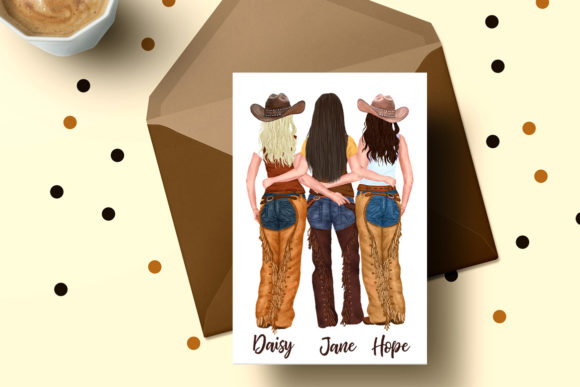 Western Girls Graphic Illustrations By LeCoqDesign - Image 6