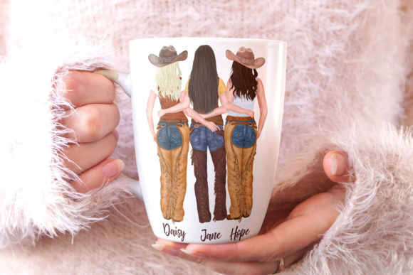Western Girls Graphic Illustrations By LeCoqDesign - Image 7