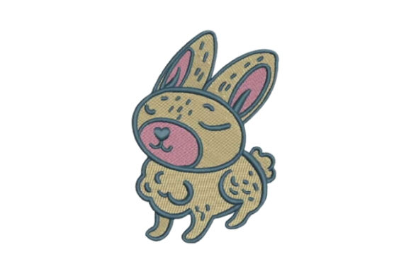 Woodland Animal Childish Bunny Woodland Animals Embroidery Design By Embroidery Designs - Image 1