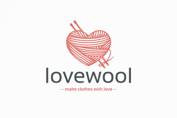 Download Free Wool Love Logo Template Graphic By Vectorwithin Creative Fabrica for Cricut Explore, Silhouette and other cutting machines.