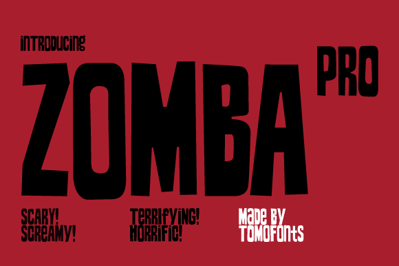 Print on Demand: Zomba Pro Display Font By TOMO Fonts