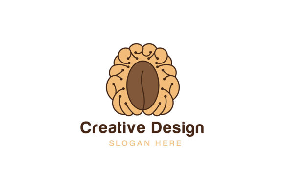 Download Free Brain Coffee Logo Ideas Inspiration Log Graphic By Yahyaanasatokillah Creative Fabrica for Cricut Explore, Silhouette and other cutting machines.