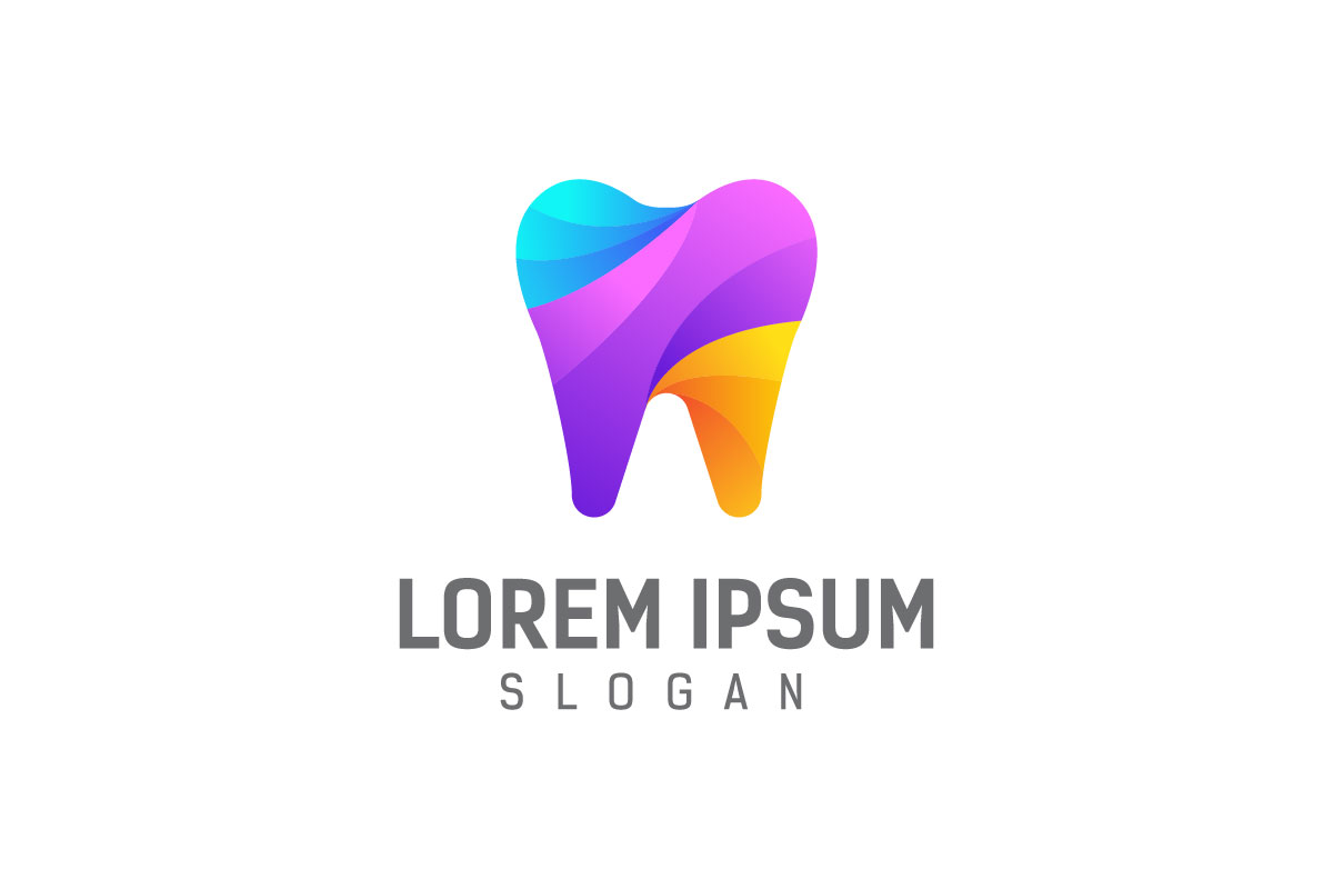 Download Free Dental Logo Design Template Graphic By Syaefulans Creative Fabrica for Cricut Explore, Silhouette and other cutting machines.