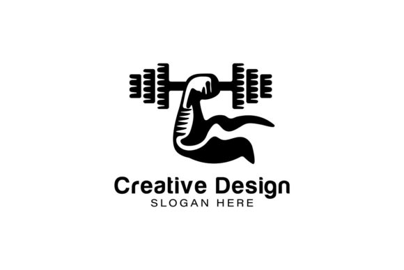 Download Free Muscle Fitness Logo Ideas Inspiration Grafico Por for Cricut Explore, Silhouette and other cutting machines.