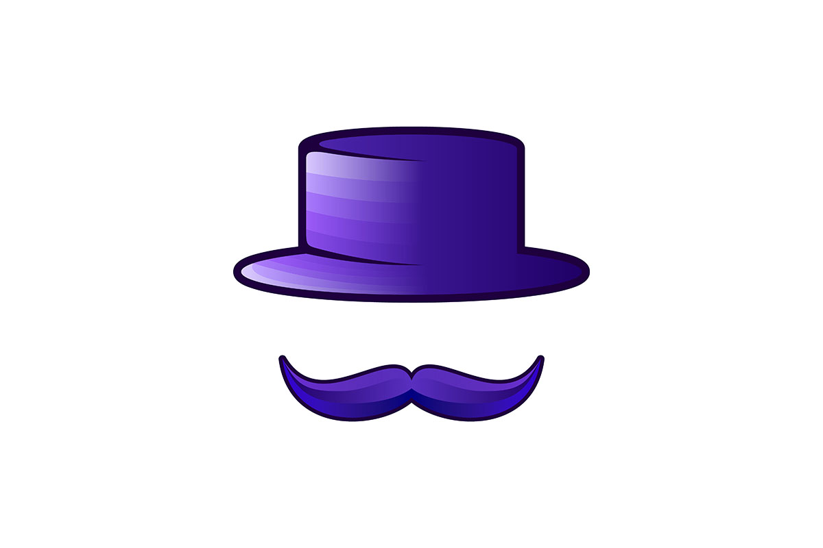 Download Free Mustache And Cap Logo Ideas Inspiration Graphic By for Cricut Explore, Silhouette and other cutting machines.