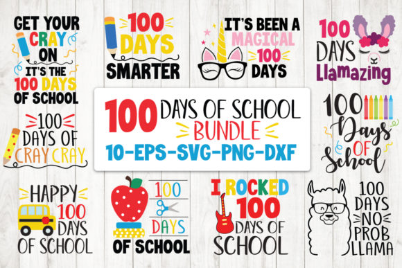 100 Days of School Bundle Graphic Crafts By All About Svg