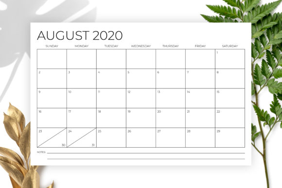 Print on Demand: 11 X 17 Modern 2020 Calendar Graphic Print Templates By Running With Foxes - Image 4