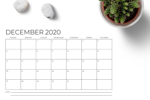 Print on Demand: 11 X 17 Modern 2020 Calendar Graphic Print Templates By Running With Foxes - Image 5