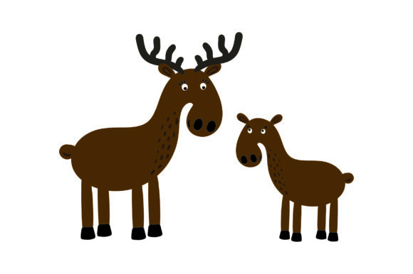 Download Free Mom And Baby Moose Svg Cut File By Creative Fabrica Crafts for Cricut Explore, Silhouette and other cutting machines.