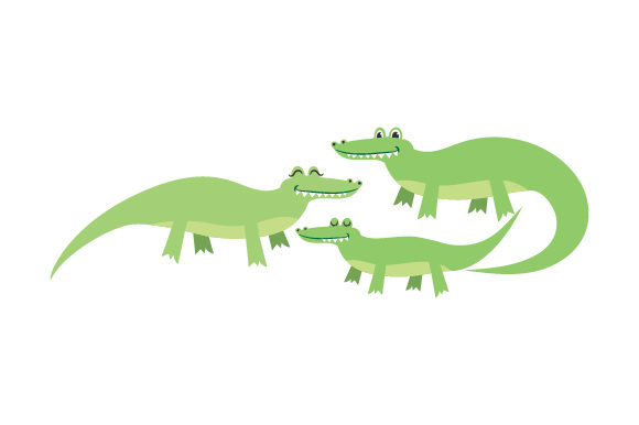 Download Free Alligator Family Svg Cut File By Creative Fabrica Crafts for Cricut Explore, Silhouette and other cutting machines.