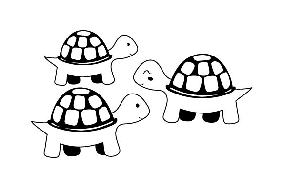 Download Free Turtle Family Svg Cut File By Creative Fabrica Crafts Creative for Cricut Explore, Silhouette and other cutting machines.