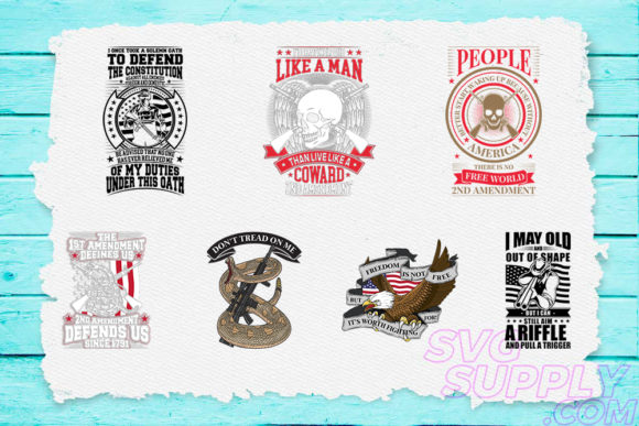 Print on Demand: 2nd Amendment Bundle Graphic Print Templates By svgsupply