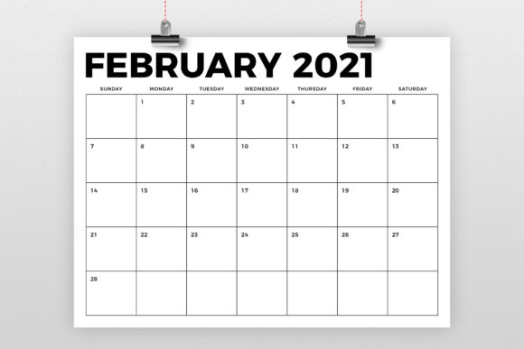 Print on Demand: 8.5 X 11 Bold 2021 Calendar Graphic Graphic Templates By Running With Foxes - Image 2