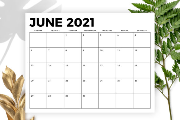 Print on Demand: 8.5 X 11 Bold 2021 Calendar Graphic Graphic Templates By Running With Foxes - Image 3