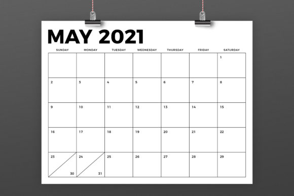 Print on Demand: 8.5 X 11 Bold 2021 Calendar Graphic Graphic Templates By Running With Foxes - Image 4