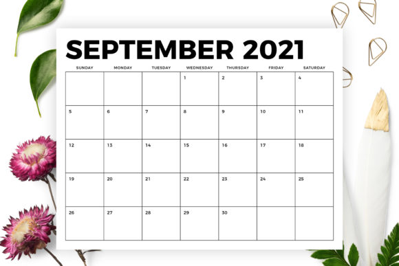 Print on Demand: 8.5 X 11 Bold 2021 Calendar Graphic Graphic Templates By Running With Foxes - Image 5