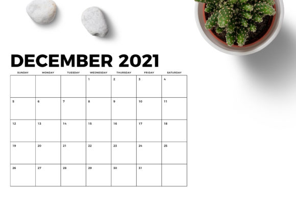 Print on Demand: 8.5 X 11 Bold 2021 Calendar Graphic Graphic Templates By Running With Foxes - Image 6