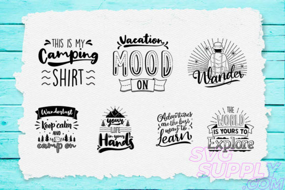 Download Free Adventure Quotes T Shirt Design Bundle Graphic By Svgsupply Creative Fabrica for Cricut Explore, Silhouette and other cutting machines.