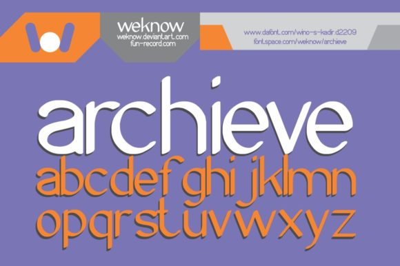 Print on Demand: Archieve Display Font By weknow