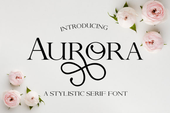Print on Demand: Aurora Serif Fuente Por freelingdesignhouse