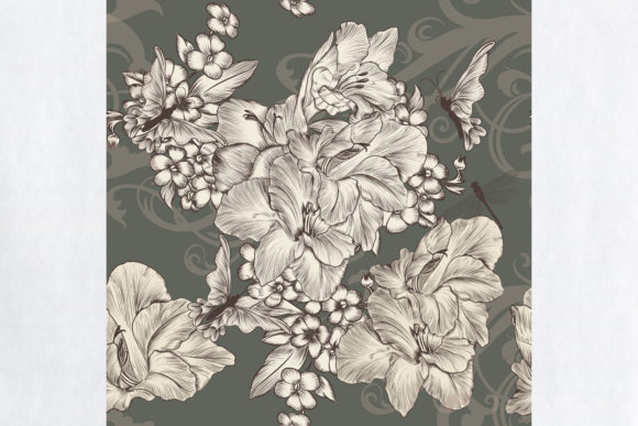 Beautiful Wallpaper with Flowers Graphic Patterns By fleurartmariia - Image 2