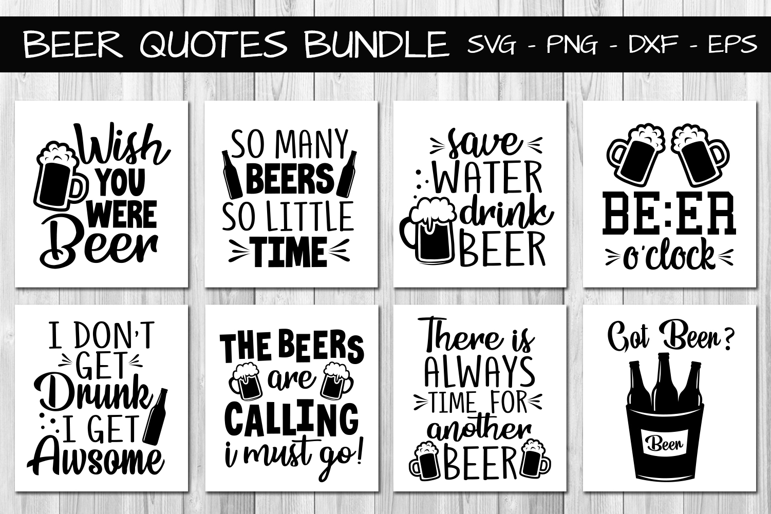 Download Free Beer Quotes Bundle Graphic By All About Svg Creative Fabrica for Cricut Explore, Silhouette and other cutting machines.