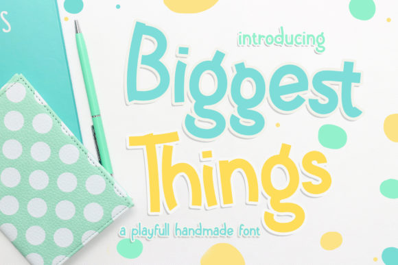 Print on Demand: Biggest Things Manuscrita Fuente Por RochArt