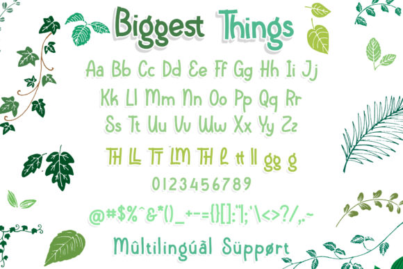 Print on Demand: Biggest Things Script & Handwritten Font By RochArt - Image 5