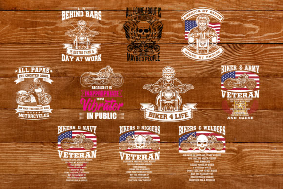 Print on Demand: Bikers Bundle Graphic Print Templates By svgsupply