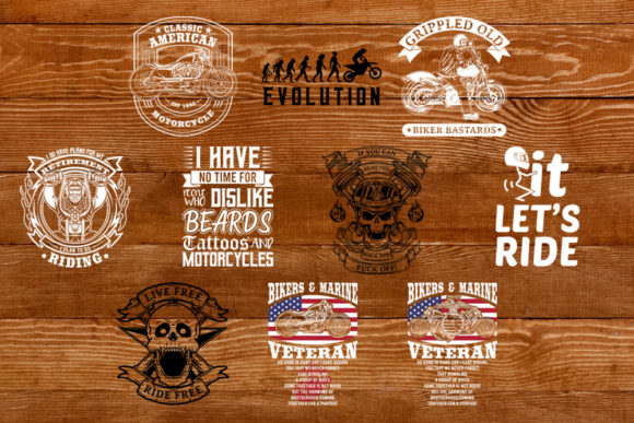 Download Free Bikers Bundle Grafico Por Svgsupply Creative Fabrica for Cricut Explore, Silhouette and other cutting machines.