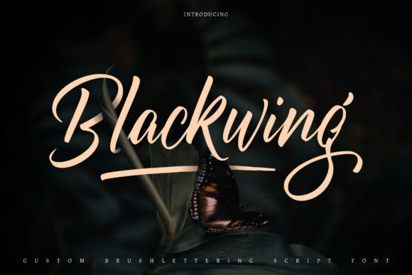 Print on Demand: Blackwing Script & Handwritten Font By Vunira