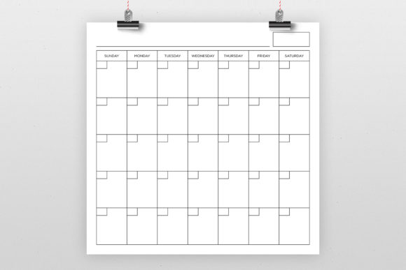Print on Demand: Blank Calendar Page Graphic Graphic Templates By Running With Foxes